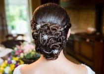 wedding photo - Wedding Hair Pin Crystal Flower Art Deco Vintage Style Bridal Hair Jewelry