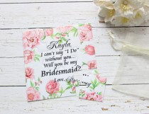 wedding photo - Will You Be My Bridesmaid Proposal Puzzle Flowergirl Invitation Asking Maid of Honor Peoniwes Puzzle Bridesmaid Wedding Invitation