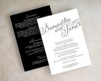 wedding photo - Simple wedding invitations, online invitations, elegant wedding invitation, invite, personalised wedding invites, invitation card, Jane