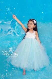 wedding photo - Frozen tutu dress, Frozen party dress, Elsa dress, Turquoise tutu dress, girls photoprop, baby toddler frozen dress, frozen birthday dress