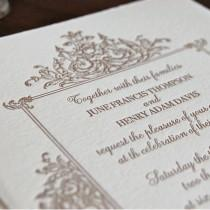 wedding photo - Marco - Letterpress Wedding Invitation Sample