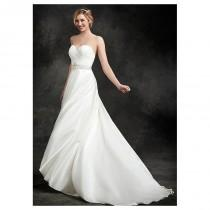 wedding photo - Glamorous Lace & Satin Sweetheart Neckline Natural Waistline A-line Wedding Dress - overpinks.com