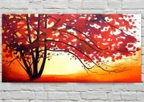 wedding photo - Fall Tree Painting Original Autumn Tree Painting by Tetiana