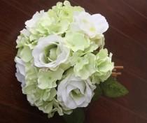 wedding photo - 1X Rose Bouquet Artificial Silk Flowers Wedding Bridal Party Home Garden Floral Decor Posy 3 Colors
