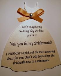 wedding photo - Will you be my bridesmaid/maid of honor/flower girl