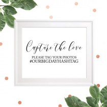 wedding photo -  Wedding personalized hashtag sign-Help us capture the love wedding sign-Wedding social media elegant calligraphy sign-Printable Wedding Sign