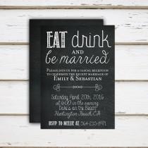 wedding photo - Emily - Printable/Printed Elopement Reception Invitation