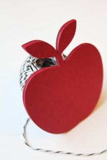 wedding photo - Apple Die Cut, LARGE, Red Apple, Rustic Wedding, Wedding Favor Tags, Wedding Favors, Gift Tags