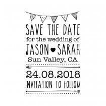 "wedding photo - CUSTOM SAVE the DATE stamp - Custom Rubber Stamp - save the date stamp, wedding stamp, invitations stamp, valentine stamp, 2""x3"" (cstd3)"