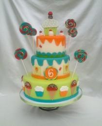 wedding photo - Candy Land Ice Cream Lollipop Fake Faux Cake - Photo Shooting Cake, Lollipop Birthday Cake, Wedding Fake Cake, Faux Cake, Birthday Fake Cake