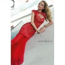 wedding photo - Red/Nude Claudine for Alyce Prom 2401 Claudine for Alyce Paris - Top Design Dress Online Shop