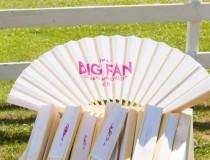 wedding photo - Hot weather favors: big-ass wedding fans!