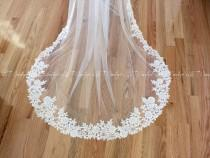 wedding photo - Cathedral Wedding Veil, Lace Cathedral Veils, Wedding Veil, Veils, Wedding Custom Made Veil, Custom Bridal Veils, READY TO SHIP