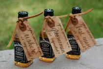 wedding photo - Personalized Wedding Party Tags - Groomsman, Best Man, Usher, Etc! - Hand Calligraphy in Brown - Bridal Party Invitation