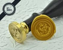wedding photo - Royal Script - Customized Wedding Wax Seal Stamp Template by Get Marked (WS0229)