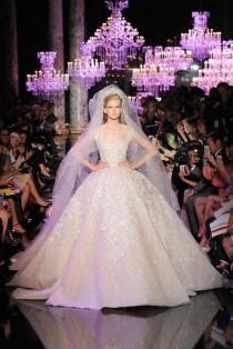 wedding photo - 18 Robes De Mariée Haute Couture Signées Elie Saab