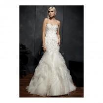 wedding photo - Luxurious Mermaid Organza Floor Length Sweetheart Wedding Dress With Beaded Embroidery - Compelling Wedding Dresses