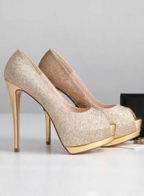 wedding photo - Elegant Peep Toe Stiletto High Heel