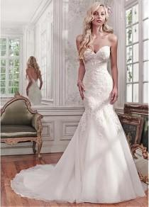 wedding photo - [169.99] Alluring Tulle Sweetheart Neckline Mermaid Wedding Dresses With Lace Appliques - Dressilyme.com