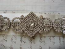 wedding photo - Sparkle huge Victorian style wedding jewelry rhinestone crystals bridal dress gown belt buckle sash closure clasp, wedding belt, bridal belt