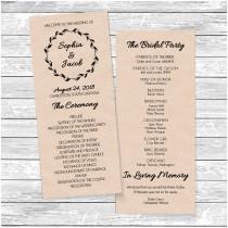 wedding photo - Printable Wedding Program Template