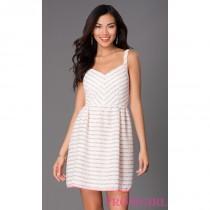 wedding photo - Striped Casual Sundress - Brand Prom Dresses