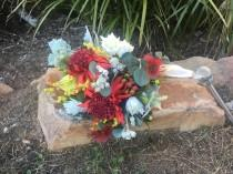 wedding photo - Rustic Native Garden Bridal Wedding Bouquet