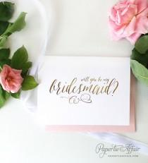 wedding photo - Set of Will You Be My Bridesmaid Cards - Be My Flower Girl, Personal Attendant, Maid of Honor - Bridesmaid Proposal Idea, REAL FOIL, WILL?