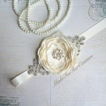 wedding photo - Ivory Bridesmaid Sash/Belt, Flower girl Sash, flower girl belt, Rustic Sash, Wedding Sash, wedding belt,  bridal sash/belt, Bridal sash