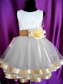 wedding photo - White  Flower Girl Dress, Ivory flower girl Dress,Flower Girl Dress Lace,Rustic Flower Girl Dress,Boho Flower Girl Dress,Birthday girl dress