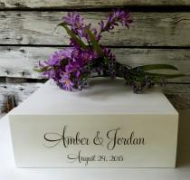 wedding photo - Cake Stand, Wedding Cake Stand, Rustic Wedding, Wedding Centerpiece, Wooden Cake Stand, Engraved Cake Stand,Personalized