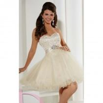 wedding photo - Embellished strapless Cocktail Dress by Damas 52334 - Bonny Evening Dresses Online