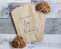 wedding photo - Wedding Cookie Bags, All You Need is Love and Cookies, Cookie Wedding Favors, Wedding Treat Table, Personalized Wedding Favors, Favor Bags