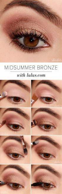 wedding photo - Lulus How-To: Midsummer Bronze Eyeshadow Tutorial With Sigma!