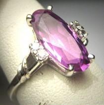 wedding photo - Antique Color Change Sapphire Ring Vintage Art Deco 20s Wedding Ring