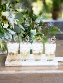 wedding photo - Gemstone Stir Sticks, Engagement Bachelorette Bridal Shower Party Drink Stirrer Bar Decorations for Wedding Party Decor Gold (Item - GSS110)