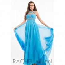 wedding photo - Neon Coral Rachel Allan Prom 7135  Rachel ALLAN Long Prom - Elegant Evening Dresses