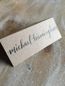 wedding photo - Handwritten Calligraphy Wedding & Event Escort and Place Cards