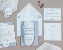 wedding photo - Modern Geode Wedding Invitation Set,Rustic Agate Wedding Invitations,Abstract Geode Wedding Invites,Desert rock Wedding Invite,Rock Wedding