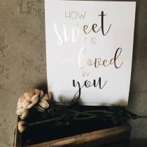 wedding photo - Real Gold foil love sign// wedding print//candy bar sign/dessert bar sign