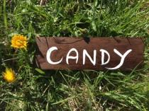 wedding photo - Candy Rustic Chic Wedding Hanging Wood Signs, Country Wedding, Fall Outdoor Wedding Decor, Wedding Wood Signage, Hanging Wedding Sign