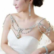 wedding photo - Bridal Cristal Strass Halter Collar - Bridal Shoulder Deco