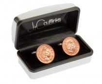 wedding photo - Mens 8th bronze wedding gift anniversary in 2017  penny coin 2009 cuff links