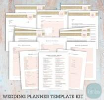 wedding photo - Wedding Planner Forms and Contracts Template Set - Photoshop Template - NG038