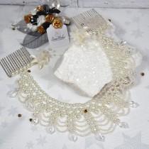wedding photo - Pearl hair drape, Art deco wedding, Hair jewellery, Bridal headpiece, Vintage wedding, Bridal comb, Bridal headdress, Vintage hair piece