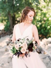 wedding photo - Luxe Romantic Beach Wedding Shoot With Dark Elements - Weddingomania