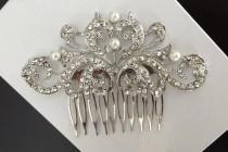 wedding photo - wedding hair comb, wedding comb, bridal comb, bridal hair comb, wedding hair accessories, vintage comb, crystal comb, pearl comb