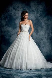 wedding photo - Alfred Angelo 893 Ball Gown Sequin And Lace Wedding Dress, Ivory Size 12