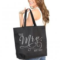 wedding photo - Mrs. Bag : Bride Tote, Jumbo Bride's Tote,  Bridal Shower Gift, Bachelorette Party, Engagement, Carryall