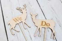wedding photo - Buck and Doe Wedding Cake Topper Country Wedding Cake Topper Rustic Wedding Cake Topper We Do Cake Topper
